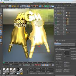 Custom 3D Artwork for Millo Gang Music Jewelry and Cover Album Artwork